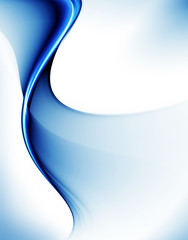 Abstract illustration of wavy flowing energy
