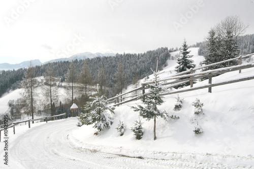 Spoed Foto op Canvas Blauwe hemel Beautiful Winter