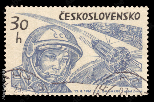 Photo  Yuri Gagarin Vintage Stamp 1961