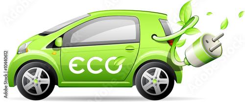 Plakaty ekologiczne   samochod-elektryczny