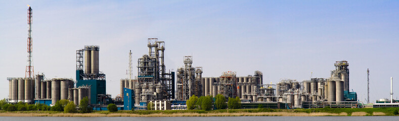 Fototapeta na wymiar Refinery complex in Antwerp, Belgium