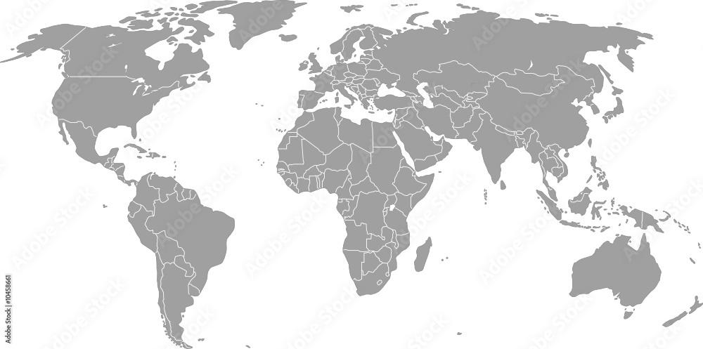 Fototapety, obrazy: Weltkarte (Vektorgrafik)