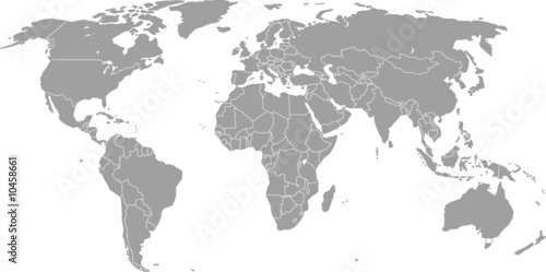 Weltkarte (Vektorgrafik) #10458661