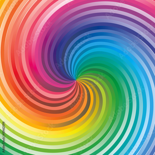 Wall Murals Psychedelic rainbow background