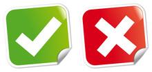 Etiquettes Vrai - Faux Vecteur2