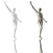 Statuette Of A Silver Metal Girl Isolated On A White Background