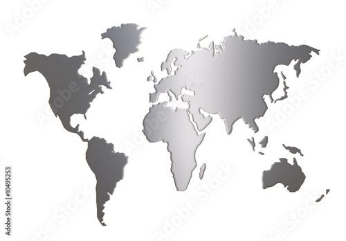 world map silhouette isolated on white background – kaufen Sie diese ...