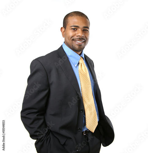 Fotografie, Obraz  Confident smiling African American businessman