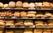 Various Bread Type On Shelf. B...