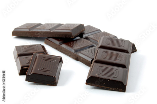 sweet chocolate for baking isolated on white background