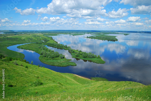 Printed kitchen splashbacks River Landscape on the River Volga, Russia