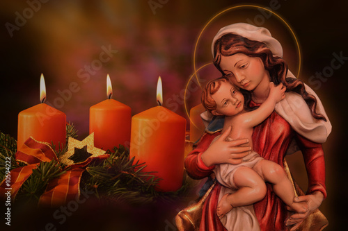 Mutter Gottes mit Jesuskind Wallpaper Mural