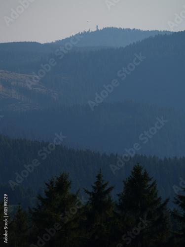 Aluminium Prints Harzer Bergpanorama mit großem Knollen