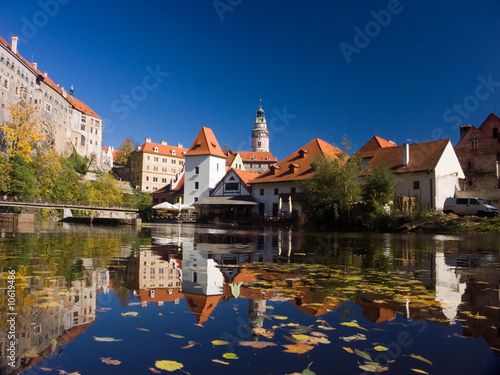 Photo  Czech Republic - autumn in Cesky Krumlov . This is an UNESCO
