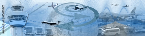 World Wide Air Traffic And Cargo Canvas Print