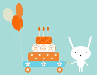 FototapetaBunny birthday