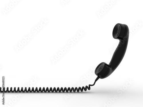 Obraz Retro telephone receiver. 3D generated image - fototapety do salonu