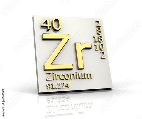 Fotografia, Obraz Zirconium form Periodic Table of Elements