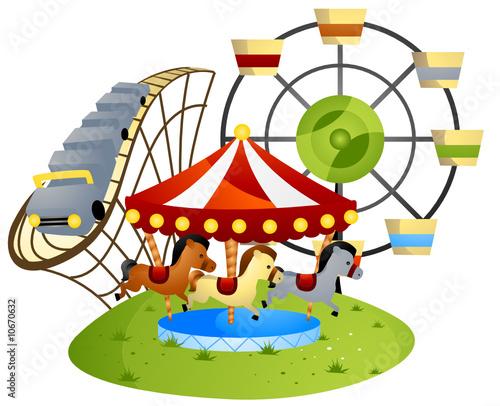 Fotobehang Indiërs Amusement Park