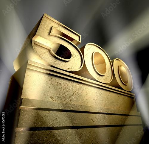 Photo  500 anniversary monument