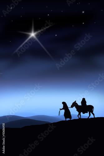 Der Weg nach Bethlehem Fotobehang