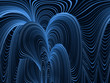 Abstrakt,Blaue Bewegung