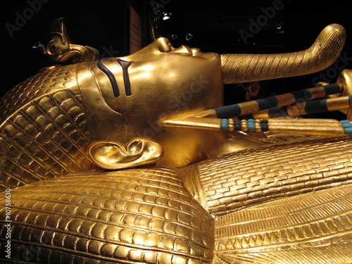In de dag Egypte Tutankhamun´s Golden Coffin