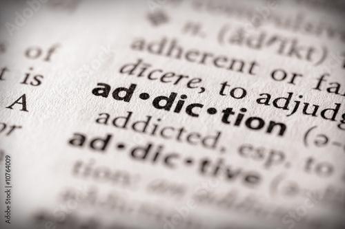 Dictionary Series - Health: addiction Canvas Print