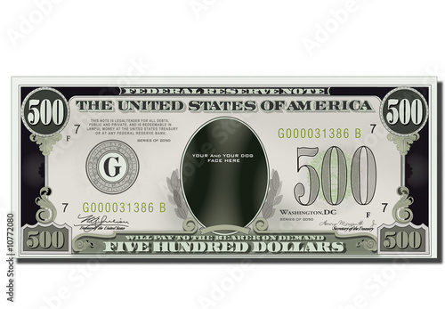 USA game Banknote Fototapeta