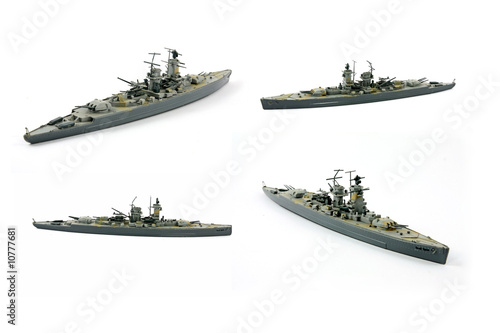 Canvas Model of military ship