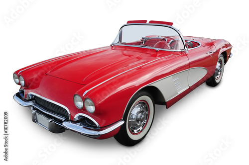 Deurstickers Vintage cars Classic Convertible Sports Car