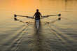canvas print picture - Solo Rower