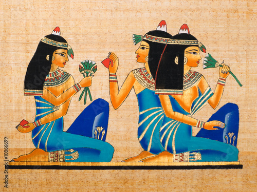 Tuinposter Egypte Egyptian papyrus: Banquet scene