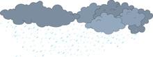 Rain Clouds On White Illustration