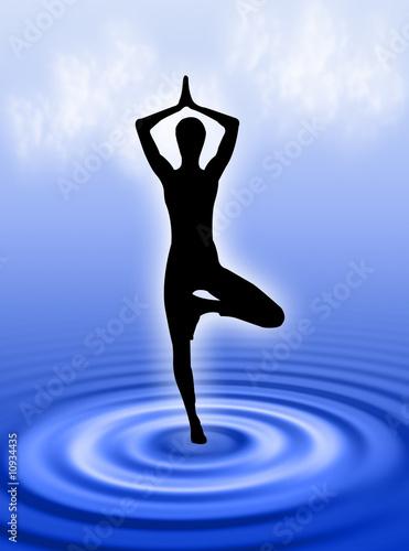 Valokuva  Yoga in acqua