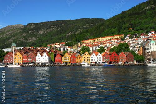 Poster Scandinavie wooden houses of Bergen