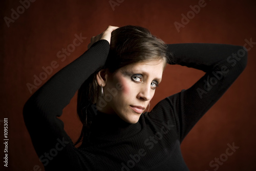 Pretty Woman In A Black Dress Buy This Stock Photo And Explore