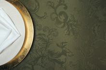 Silk Background And Plate Sett...