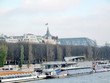 Immeubles classiques, Grand Palais, La Seine, Paris.