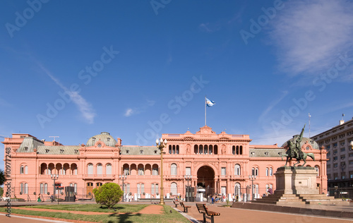 Poster Buenos Aires Casa Rosada (Pink House) Presidential Palace of Argentina