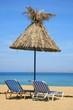Crete. Vai beach. Umbrella