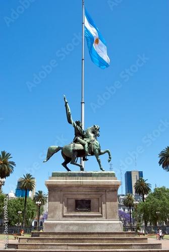 Foto op Plexiglas Zuid Afrika Manuel Belgrano a cavallo, Plaza De Mayo, Buenos Aires