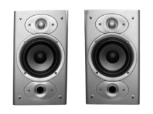 Pair Of Stereo Speakers Isolat...