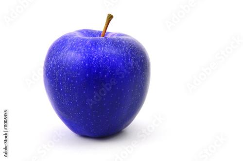 Canvas blue apple