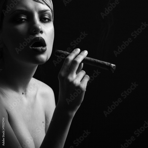 Elegant smoking woman