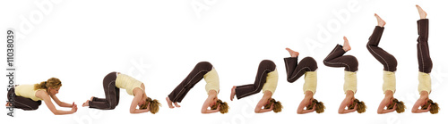 headstand sequence Canvas-taulu
