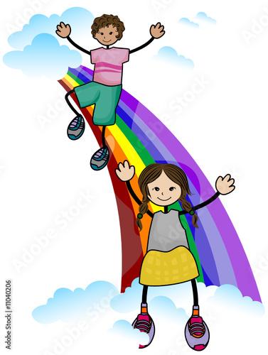 In de dag Regenboog Rainbow Kids