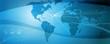 Globale Kommunikation-blau-sternfoermig