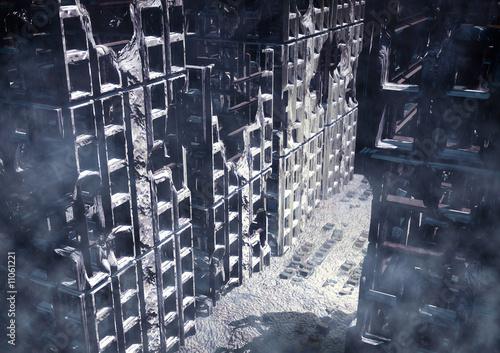 Photo  city in ruin