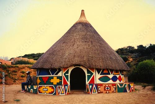Foto auf Leinwand Afrika Afrikanische Hütte